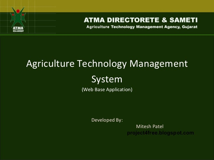 Agriculture technology management_system
