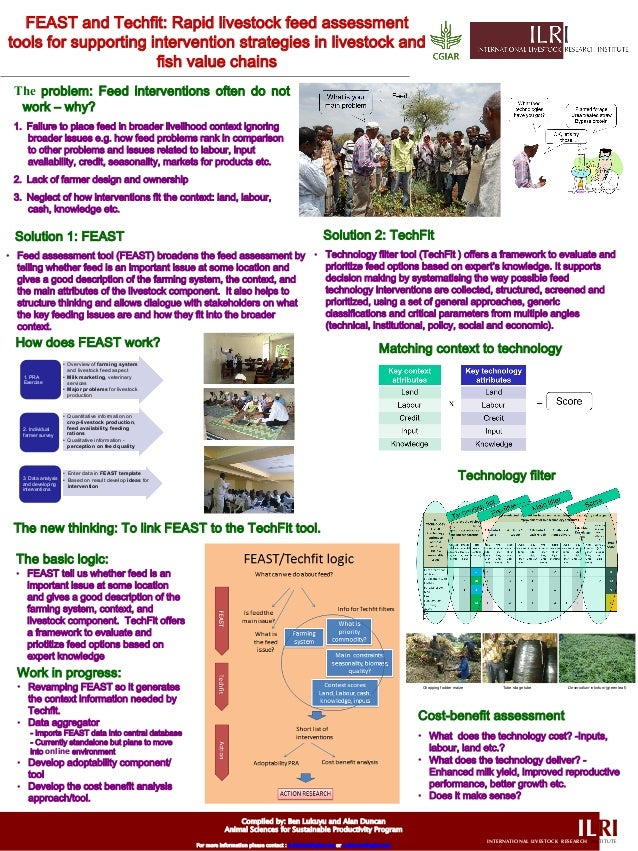 ILRIINTERNATIONAL LIVESTOCK RESEARCH INSTITUTE FEAST and Techfit: Rapid livestock feed assessment tools for supporting int...
