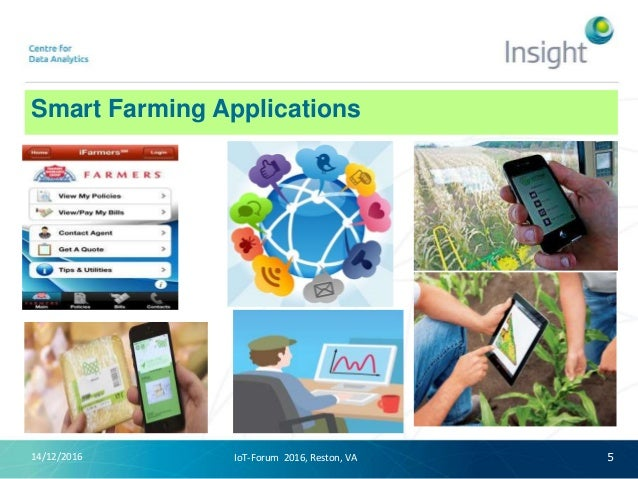 Smart Farming Applications 14/12/2016 5IoT-Forum 2016, Reston, VA