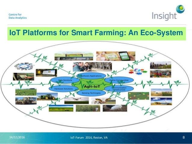 IoT Platforms for Smart Farming: An Eco-System 14/12/2016 8IoT-Forum 2016, Reston, VA