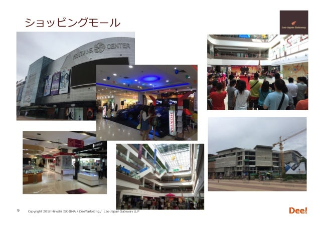 Copyright 2018 Hiroshi ISOJIMA / DeeMarketing / Lao-Japan Gateway LLP ショッピングモール 9