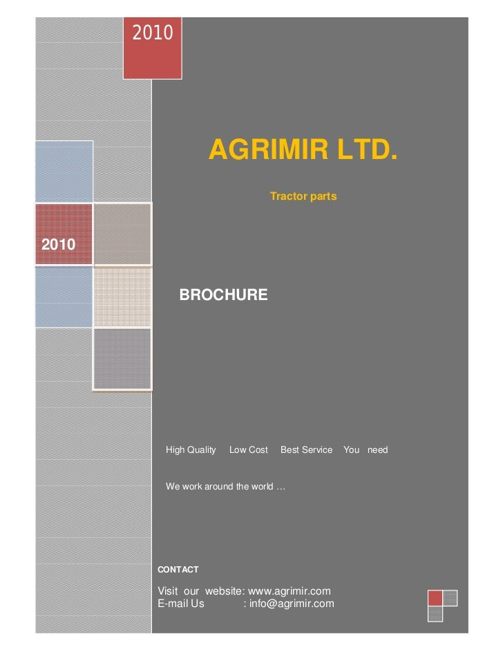 2010                    AGRIMIR LTD.                                    Tractor parts2010              BROCHURE          H...