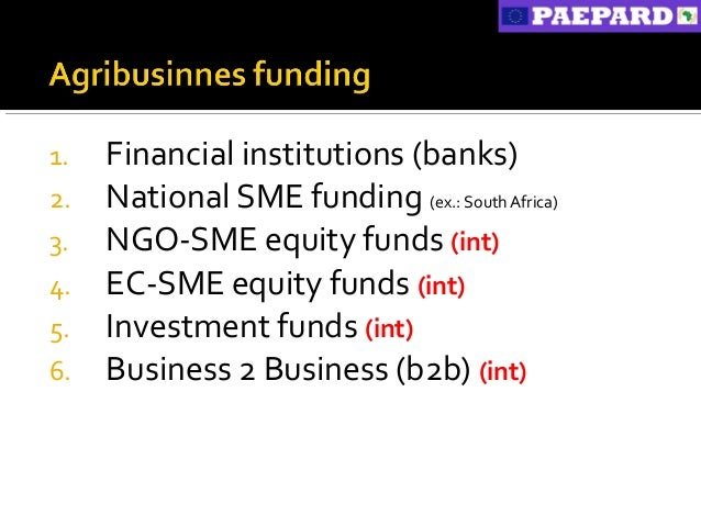 Innovative Funding For Agribusiness Smes