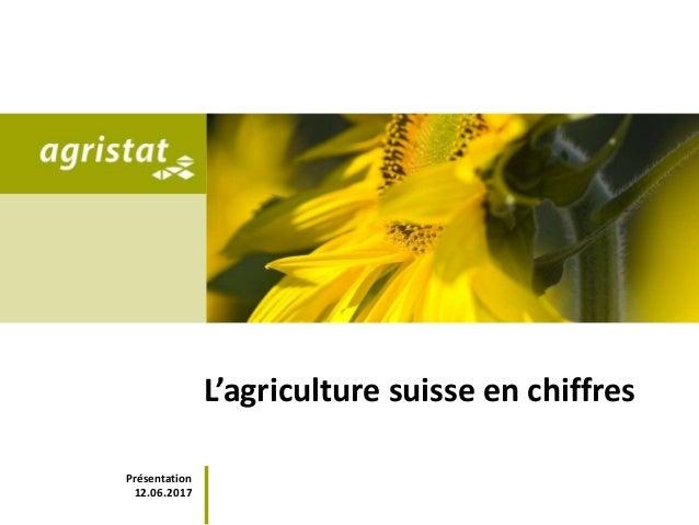 L'agriculture suisse en chiffres Présentation 12.06.2017