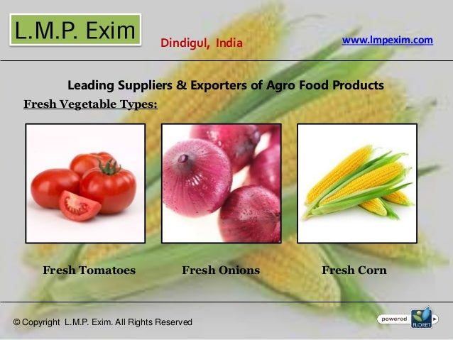 Fresh Fruits, Vegetables Suppliers