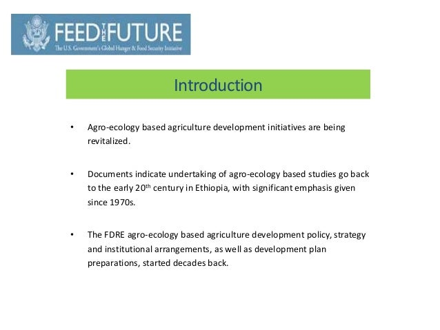 Agro Ecology & Agriculture Policy in Ethiopia Slide 3