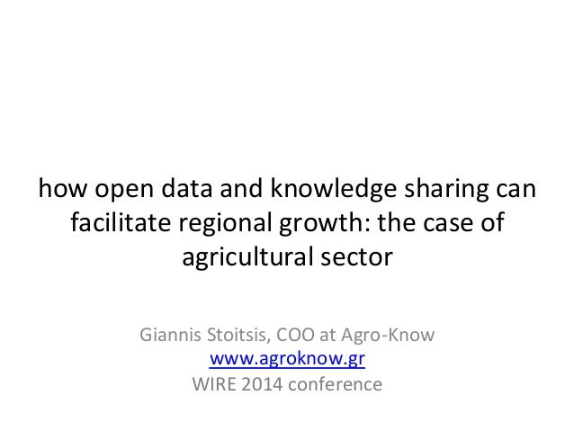 how	   open	   data	   and	   knowledge	   sharing	   can	    facilitate	   regional	   growth:	   the	   case	   of	   ...