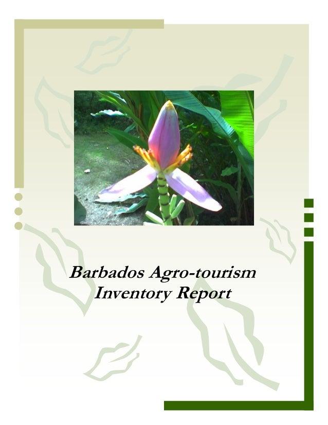 Barbados Agro-tourism   Inventory Report