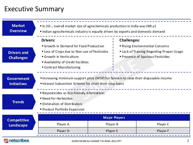 A BUSINESS PLAN FOR AGRO-CHEMICAL ENTERPRISE IN NIGERIA | FEASIBILITY SAMPLE