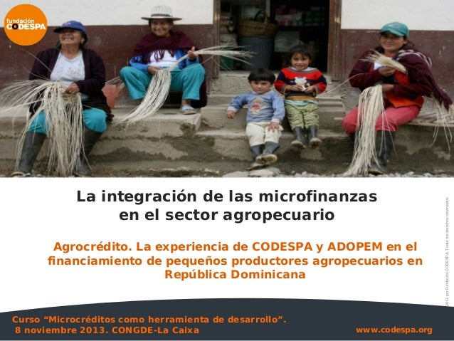 rural market development strategies? CODESPA will share its experience from two key projects in Ecuador and Dominican Repu...