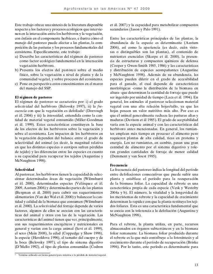 Agroforestería en las Américas Nº 47 2009Este trabajo ofrece una síntesis de la literatura disponible                     ...