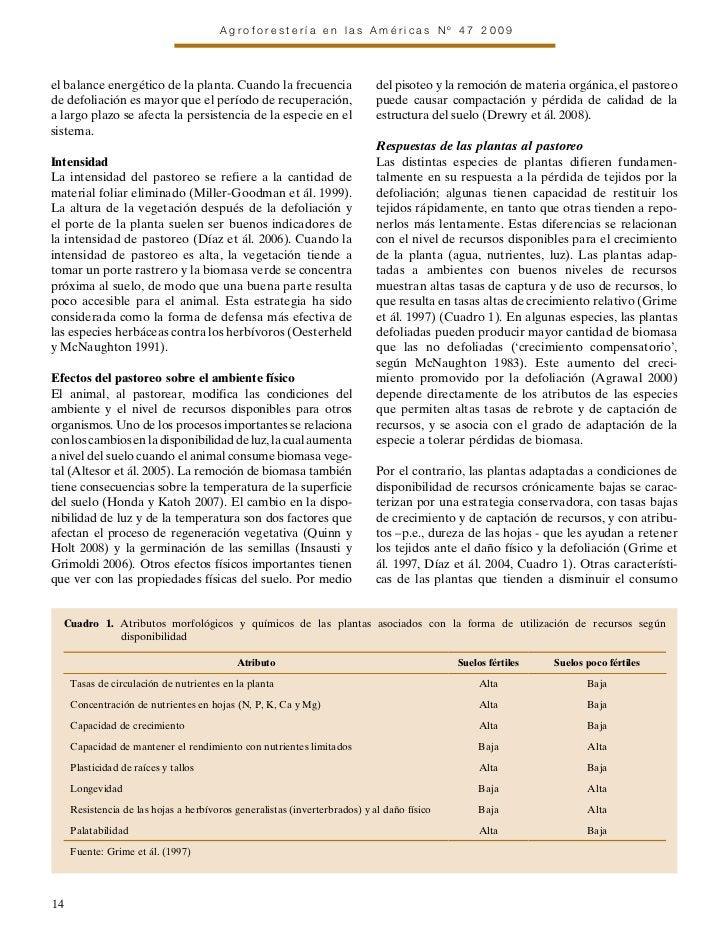 Agroforestería en las Américas Nº 47 2009el balance energético de la planta. Cuando la frecuencia                    del p...