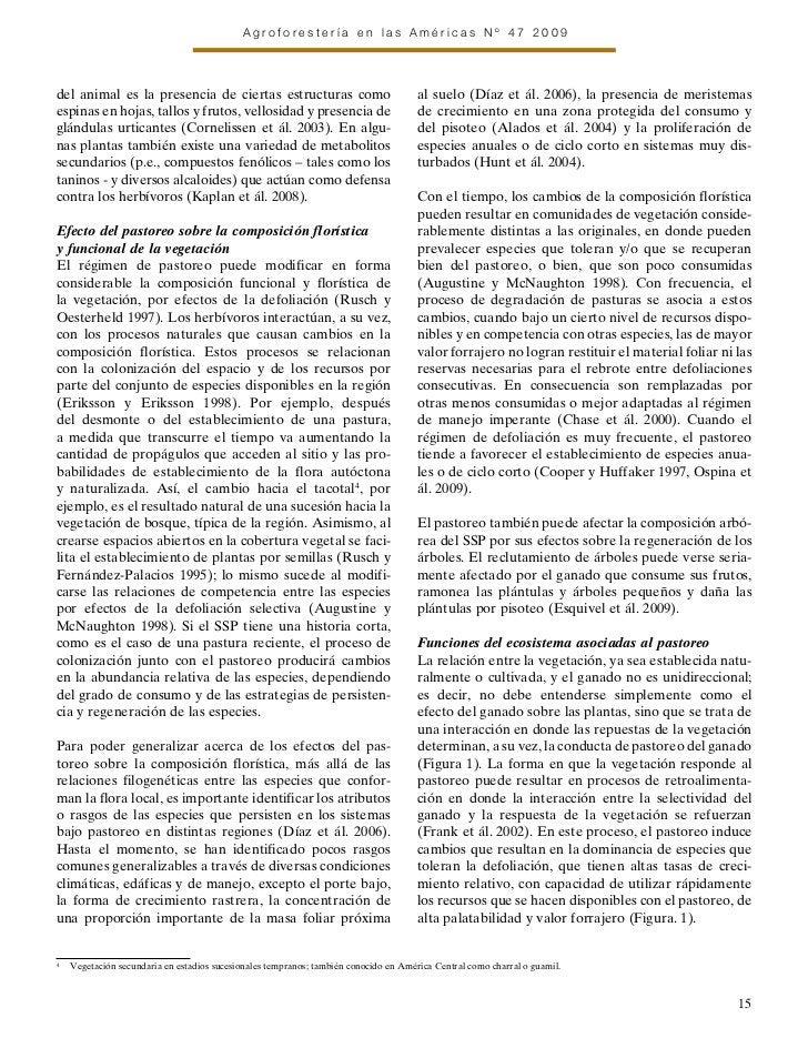 Agroforestería en las Américas Nº 47 2009del animal es la presencia de ciertas estructuras como                           ...