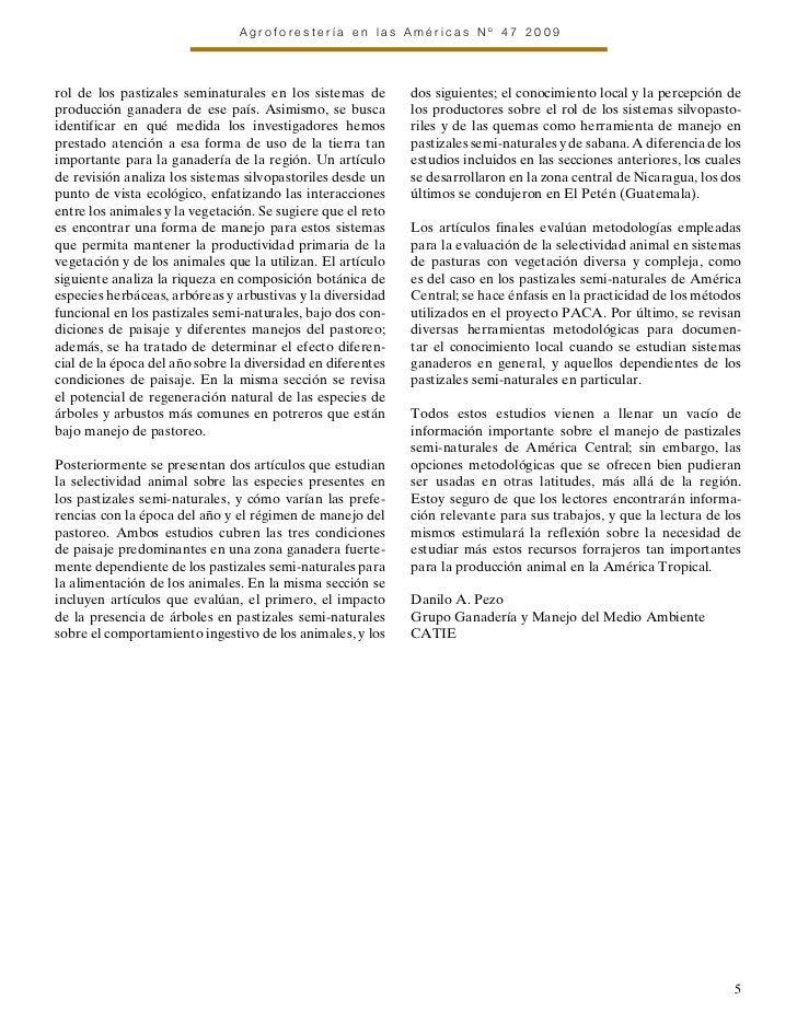 Agroforestería en las Américas Nº 47 2009rol de los pastizales seminaturales en los sistemas de       dos siguientes; el c...