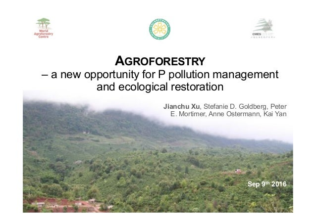 Jianchu Xu, Stefanie D. Goldberg, Peter E. Mortimer, Anne Ostermann, Kai Yan AGROFORESTRY – a new opportunity for P pollut...