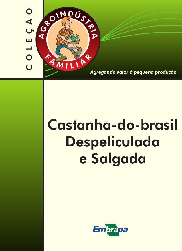 Agregando valor à pequena produção COLEÇÃO Castanha-do-brasil Despeliculada e Salgada DÚNI S T O R R I G A AF R A AM ILI
