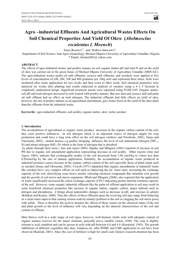 Journal of Environment and Earth Science                                                                www.iiste.orgISSN ...