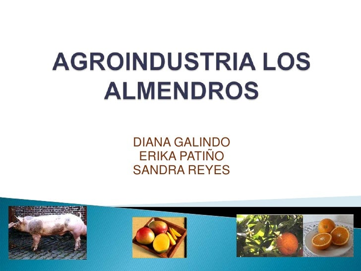 AGROINDUSTRIA LOS ALMENDROS<br />DIANA GALINDO<br />ERIKA PATIÑO<br />SANDRA REYES<br />