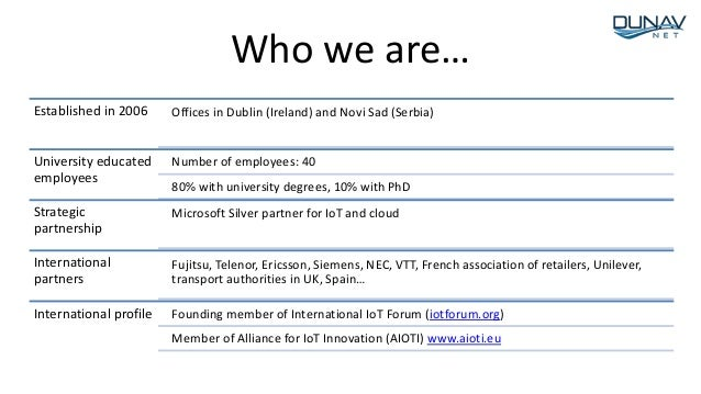 Established in 2006 Offices in Dublin (Ireland) and Novi Sad (Serbia) University educated employees Number of employees: 4...