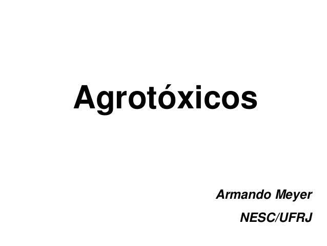 Agrotóxicos  Armando Meyer  NESC/UFRJ