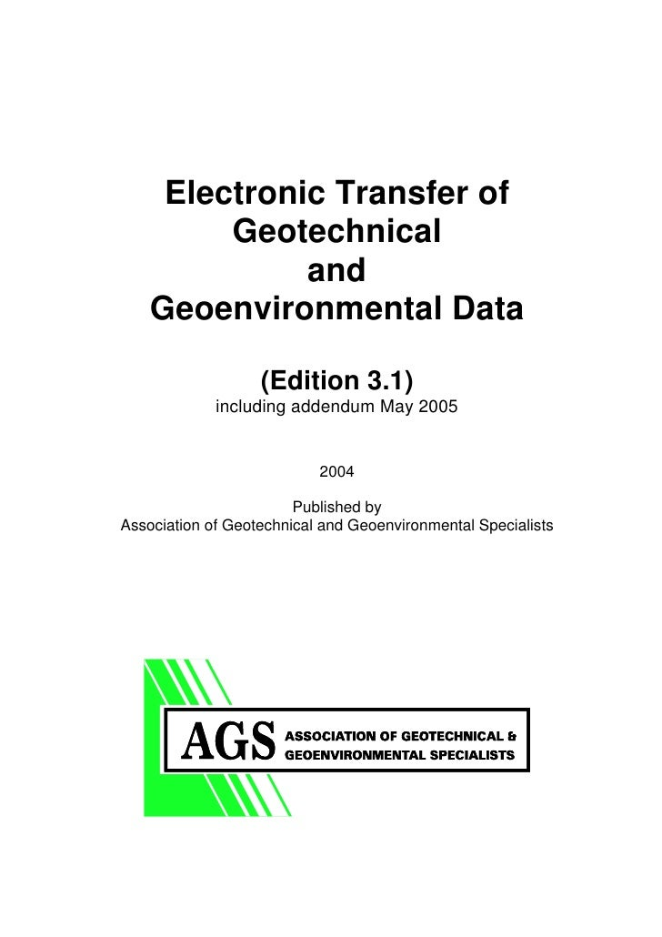 COVER                  Electronic Transfer of                  Geotechnical                       and             Geoenvir...