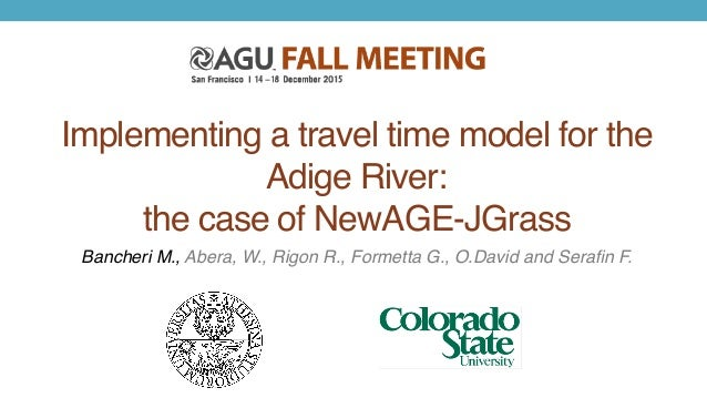 Implementing a travel time model for the Adige River: 
