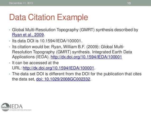 Ieda Data Publication Workshop Agu