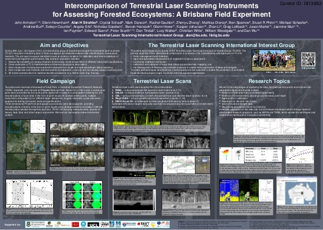 Supported by: Intercomparison of Terrestrial Laser Scanning Instruments for Assessing Forested Ecosystems: A Brisbane Fiel...