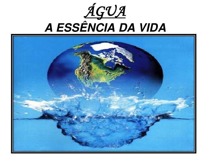 ÁGUA A ESSÊNCIA DA VIDA<br />