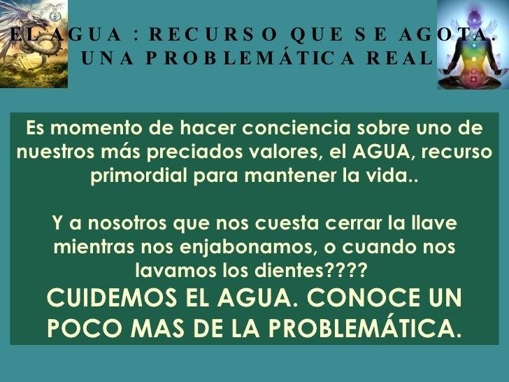 Es momento de hacer conciencia sobre uno de nuestros más preciados valores, el AGUA, recurso primordial para mantener la v...