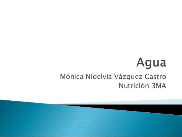 Mónica Nidelvia Vázquez Castro Nutrición 3MA