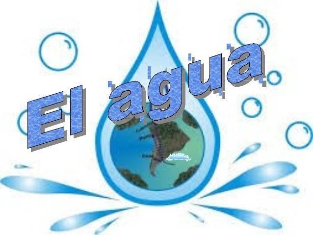 El agua es una sustancia cuya molécula está formada por dos átomos de hidrógeno y uno de oxígeno (H2O Es esencial para la ...