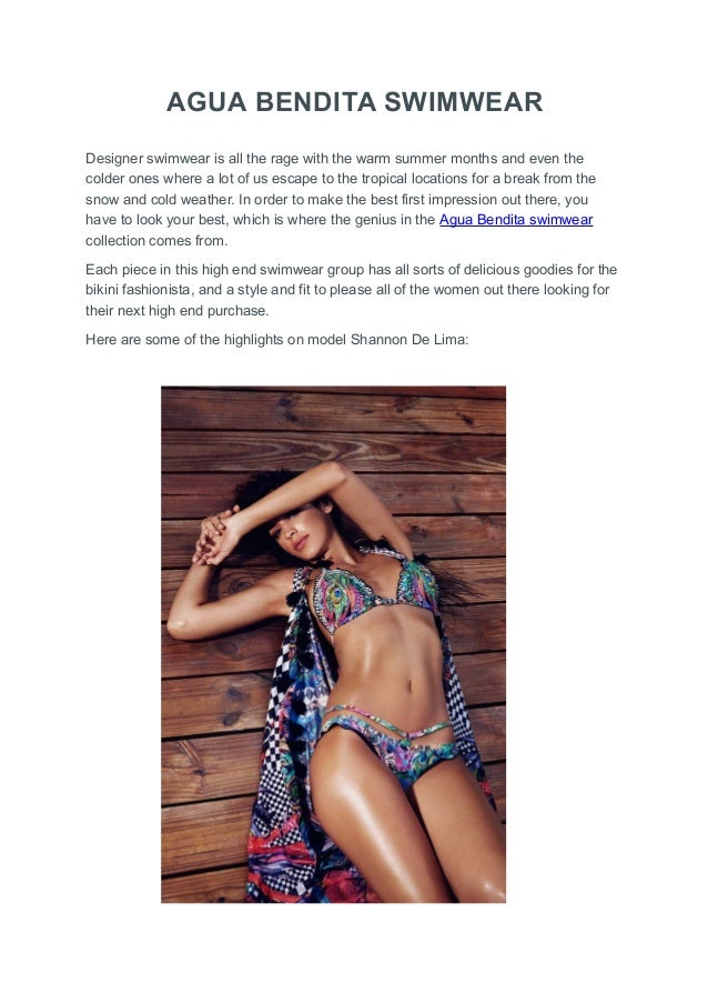 e6f83a27dd AGUA BENDITA SWIMWEAR Designer swimwear is all the rage with the warm  summer months and even ...