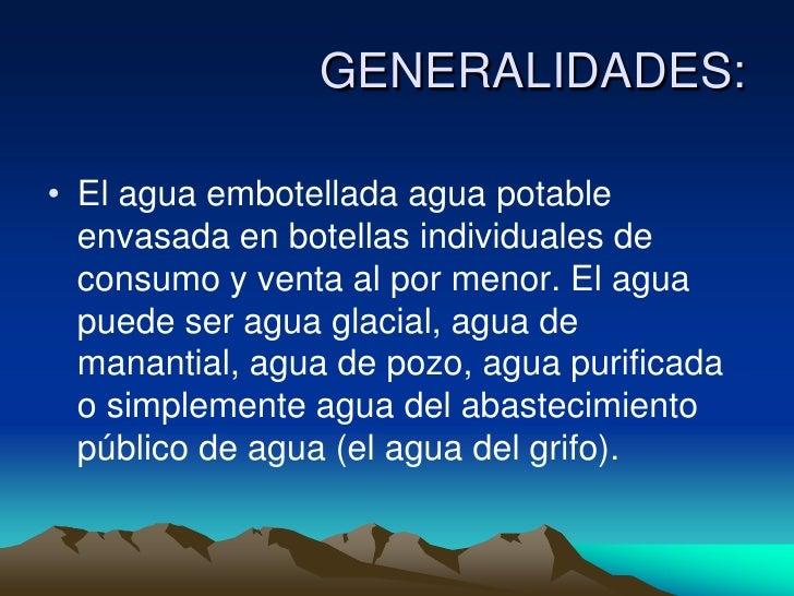 Agua embotellada - Agua del grifo o embotellada ...