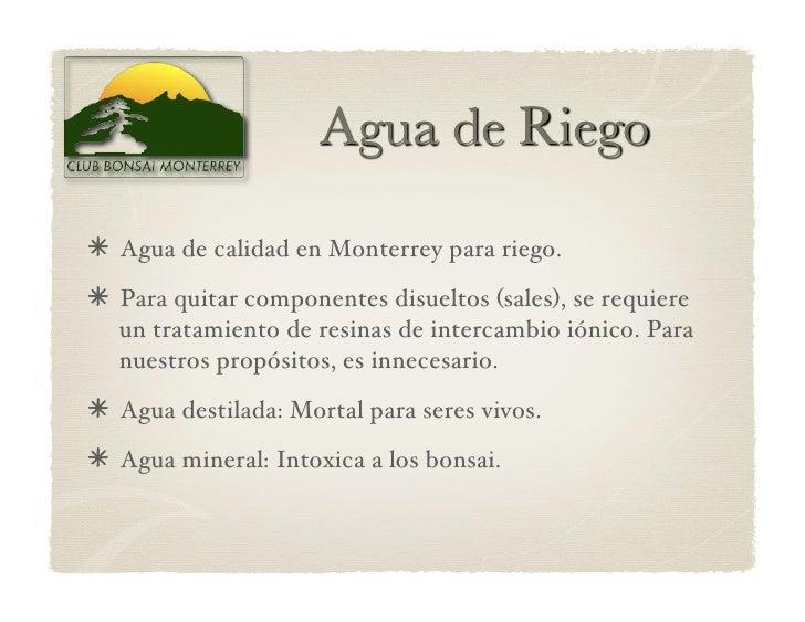 Agua de calidad en Monterrey para riego.  Para quitar componentes disueltos (sales), se requiere   un tratamiento de r...