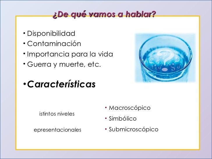 El agua y sus propiedades for Marmol caracteristicas y usos