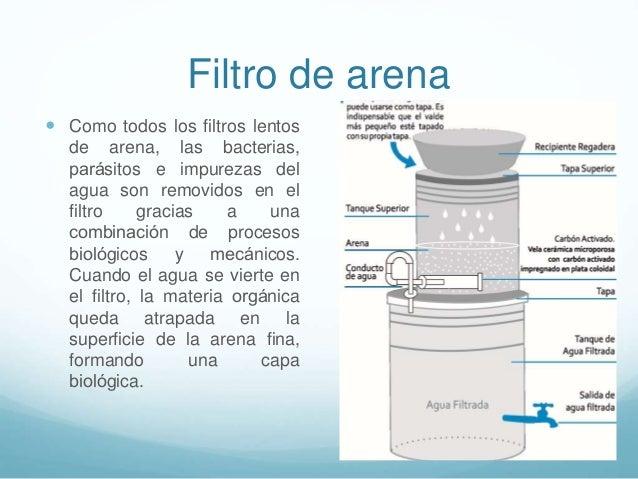 Agua para consumo humano - Filtro de arena ...