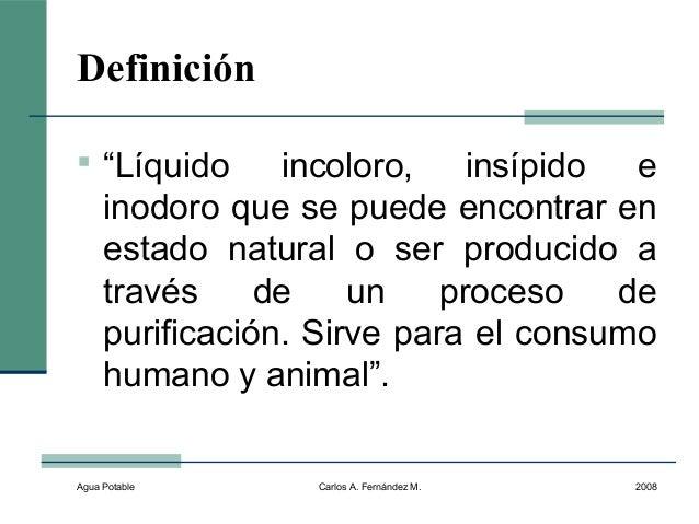 Agua potable for Inodoro significado
