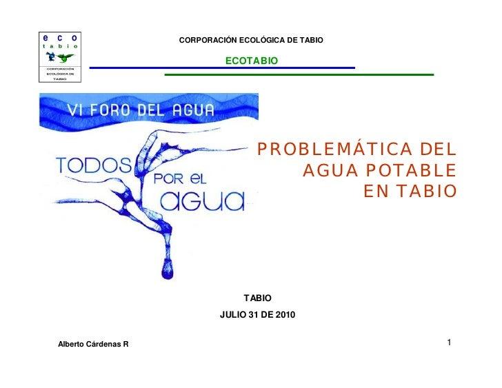 Problemática del Agua Potable en Tabio