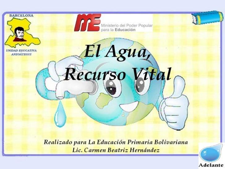Agua, Recurso Natural                                    El agua es un recurso natural                                líqu...
