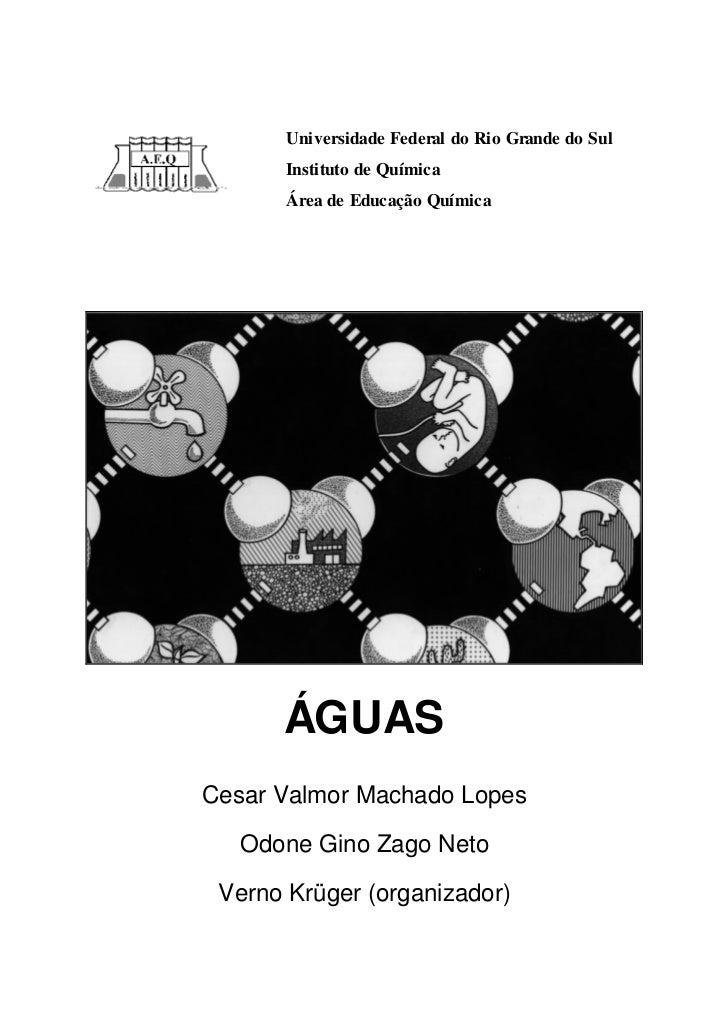 Universidade Federal do Rio Grande do Sul       Instituto de Química       Área de Educação Química      ÁGUASCesar Valmor...