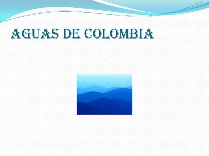 Aguas de Colombia