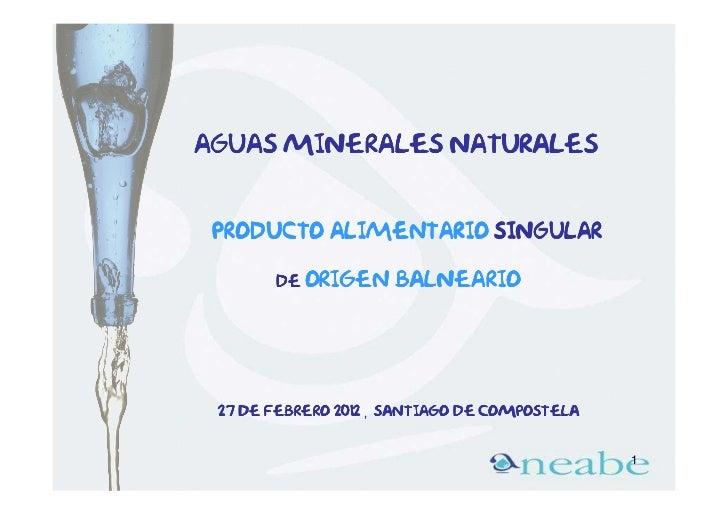 Aguas minerales naturales producto alimentario singular       de Origen      balneario 27 de febrero 2012 , Santiago de co...