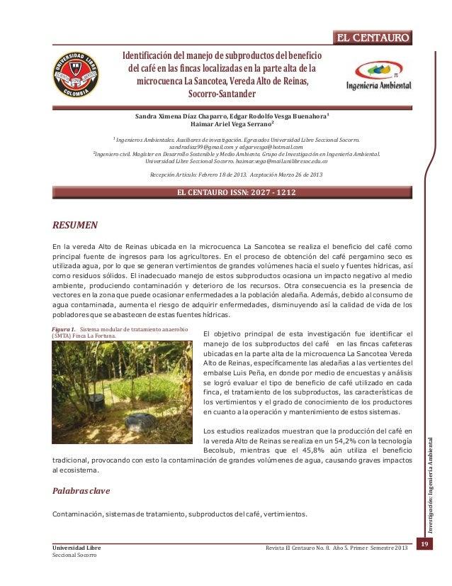 Figura 1. Sistema modular de tratamiento anaerobio  (SMTA) Finca La Fortuna.  Universidad Libre  Seccional Socorro  EL CEN...