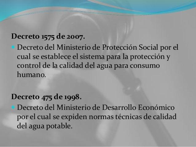 Política y regulación El Viceministerio de Agua y Saneamiento, creado en octubre de 2006 bajo el Ministerio de Ambiente, V...
