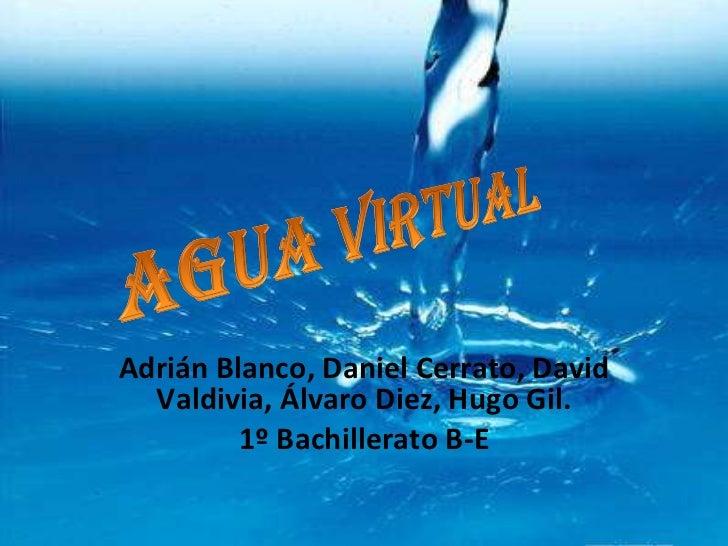 Adrián Blanco, Daniel Cerrato, David Valdivia, Álvaro Diez, Hugo Gil. 1º Bachillerato B-E