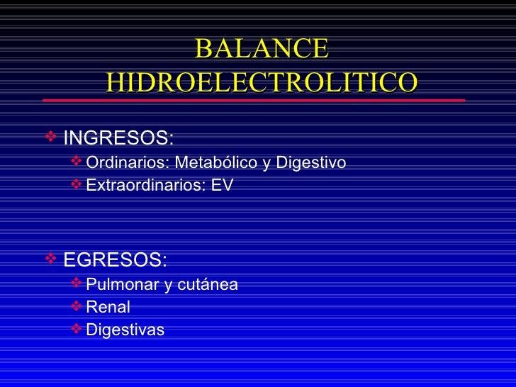 <ul><li>INGRESOS:  </li></ul><ul><ul><li>Ordinarios: Metabólico y Digestivo </li></ul></ul><ul><ul><li>Extraordinarios: EV...