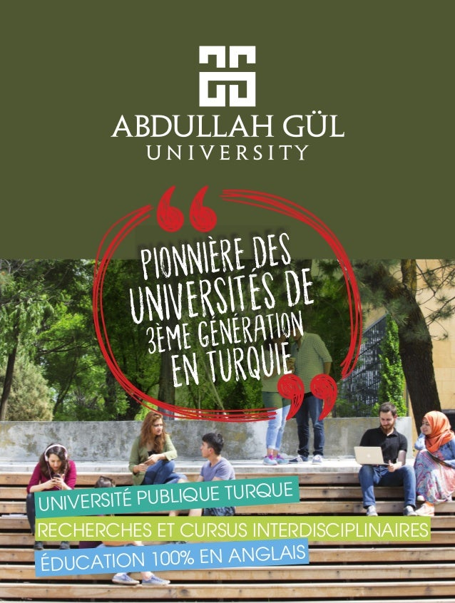 RECHERCHES ET CURSUS INTERDISCIPLINAIRES UNIVERSITÉ PUBLIQUE TURQUE ÉDUCATION 100% EN ANGLAIS EN TURQUIE 3ÈME GÉNÉRATIONUN...