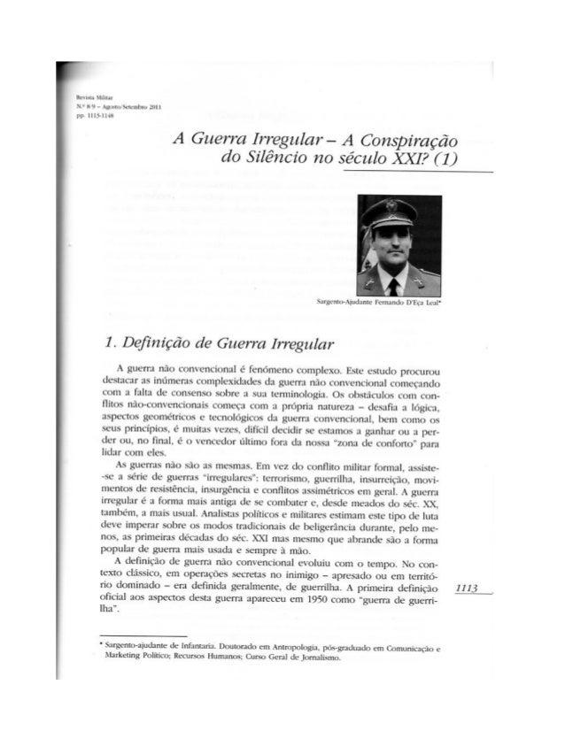 A guerra irregular   a conspiração do silêncio no século xxi 1
