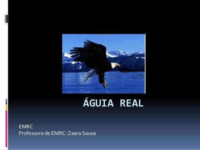 ÁGUIA REALEMRCProfessora de EMRC: Zaara Sousa